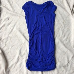 ATHLETA Cobalt Blue Dress Shirred Ruched Side M